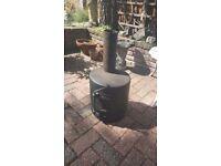gas bottle wood burner camping tent patio heater greenhouse workshop stove log