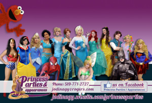 Princess Parties & Appearances and Super Hero friends EVENTS