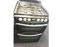 STOVES 55CM ALL GAS COOKER IN BLACK WITH LID