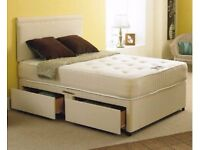 ★★ BRAND NEW ★★ DOUBLE DIVAN BED WITH MATTRESS £89 ★ EXPRESS DELIVERY BASE ONLY £49