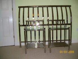 Double bed headboard and 2 side tables