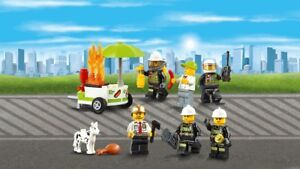 Lego city fire station minifigures for sale brand new