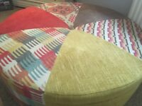 Tan & Nulti Colour Footstool