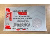 1x Paper Ticket, SW4 Festival, Saturday 26th August, £70