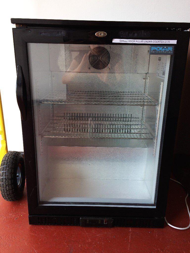 Polar single door under counter fridge / bar fridge USED
