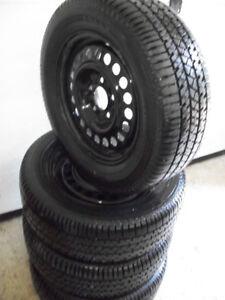 4 pneus d été 215 60 15 sur jantes 5x114.3,,,220 $,,514 571 6904