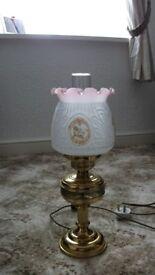 VINTAGE 'OIL' LAMP - BRASS 18'' HIGH