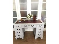 PEDESTAL DESK/BUREAU FREE DELIVERY LDN🇬🇧SOLID WOOD VINTAGE WRITING TABLE/CHEST