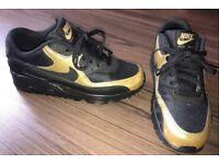 Nike air max 90 premium gold black unisex