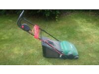 qualcast electric lawnmower mower