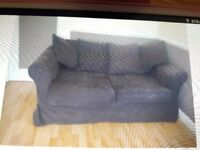 Brown 2 seater metal action sofa bed