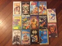 Collection of children's VHS films