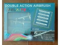 Brand New Double Action Airbrush Kit - BELKITS BEL-AIR003