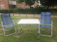 Deluxe camping chairs & table - Free delivery!