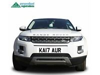 Kaur Number Plate, Kaur Registration, Asian Number Plate, Sikh Number Plate, Cherished Reg, Evoque
