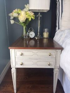 Refinished shabby end table
