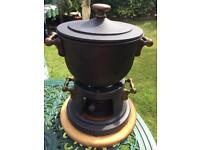 Heavy Cast Iron Fondue Set