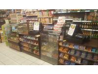 full grocery shop eqipment , shelving, refrigerated multidecks, epos, counters
