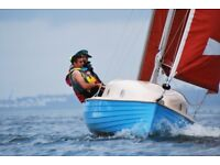 Sailing Boat - Devon Dayboat 16 with outboard motor and braked trailer