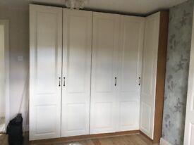 Built in bedroom furniture in good condition. Buyer must remove - £200.