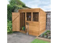 7x5 Overlap Shed with base for sale