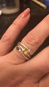 3 stone sterling Silver ring