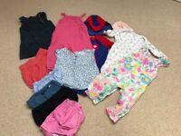 Girls clothes bundle, age 6-12 mths