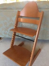 Stokke Tripp Trapp highchair - cherry - with baby set