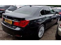 BMW 730D [F01] NEW MODEL LOOKS STUNNING IN BLACK WITH IVORY LEATHER-1 YEAR MOT-PART EXCHANGE WELCOME