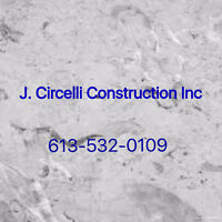 J. Circelli Construction Inc. for all your Masonry needs.