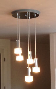 PERFECT CONDITION: Modern, Beautiful 5-Part Lighting Fixture