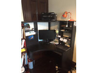IKEA MICKE black corner desk for sale