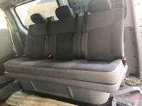 LWB Vauxhall Vivaro seats and bulkhead