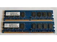 NANYA DDR2 4GB (2x 2GB) Memory - PC2-6400