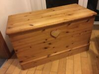 Wooden blanket box / toy box / trunk clean and tidy not musty