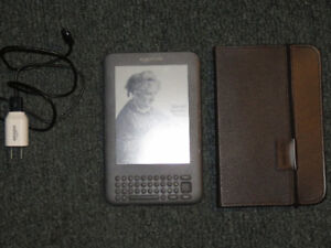Amazon Kindle Keyboard w/ Leather Lighted Cover