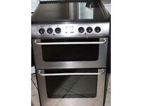NEW WORLD STAINLESS STEEL FREE STANDING 60cm ELECTRIC COOKER, 4 MONTHS WARRANTY