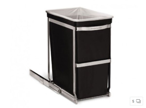 Two Simple Human 30L Slide Out Garbage/Recycling Bins