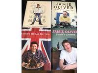 4 x Jamie Oliver Cookery Books
