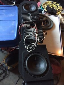 Subs box and amps
