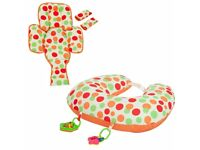 Baby stuff for selling - bath tub, baby toys and clevacushion nursing pillow