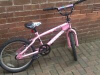 Girls bmx type bike suite6-10 year olds