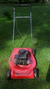 Mower with rear bagger