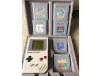 ORIGINAL Nintendo Game Boy complete with 6 games (Collectors Item from 1994)