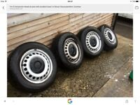 Vw t5 transporter steel wheels and tyres