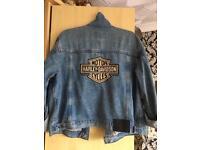 Harley Davidson Denim Jacket vintage and retro one off