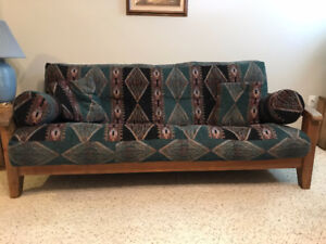 4 Piece Futon Set - Couch, Loveseat and Two Chairs