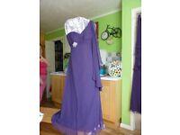 3 x Purple Bridesmaid Dresses