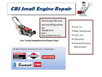 CBS Small Engine Repair - Reliable Service