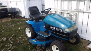 """Ford LS55  with mower, 36"""" tiller & 25hp replacement engine"""